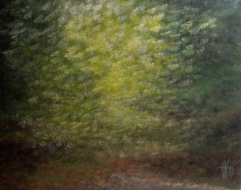 Forêt abstraite - Acrylique sur toile