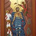 baptême du Christ - modèle copte
