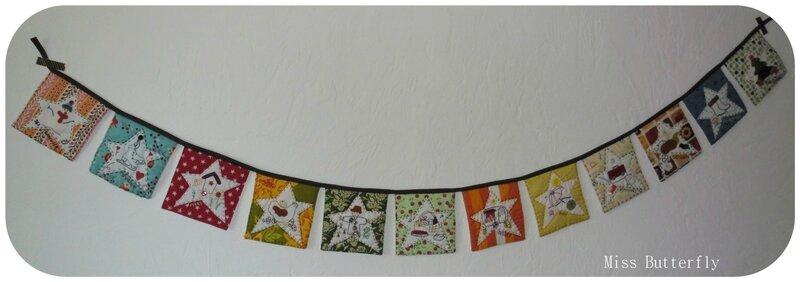 BOM Une Année dans les Etoiles, la guirlande de Miss Butterfly : http://lesprojetsmissb.canalblog.com/