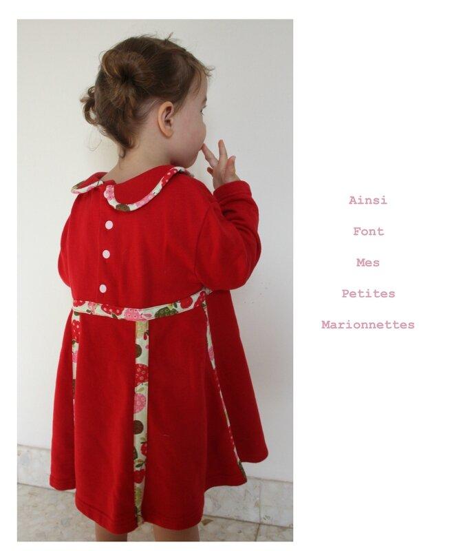 custo robe rouge molleton 5