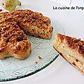 CAKE AUX POIRES RÂPEES, SPECULOOS ET CHOCOLAT