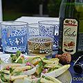 Apéro light and chic - du cidre et des bouchers très végétales