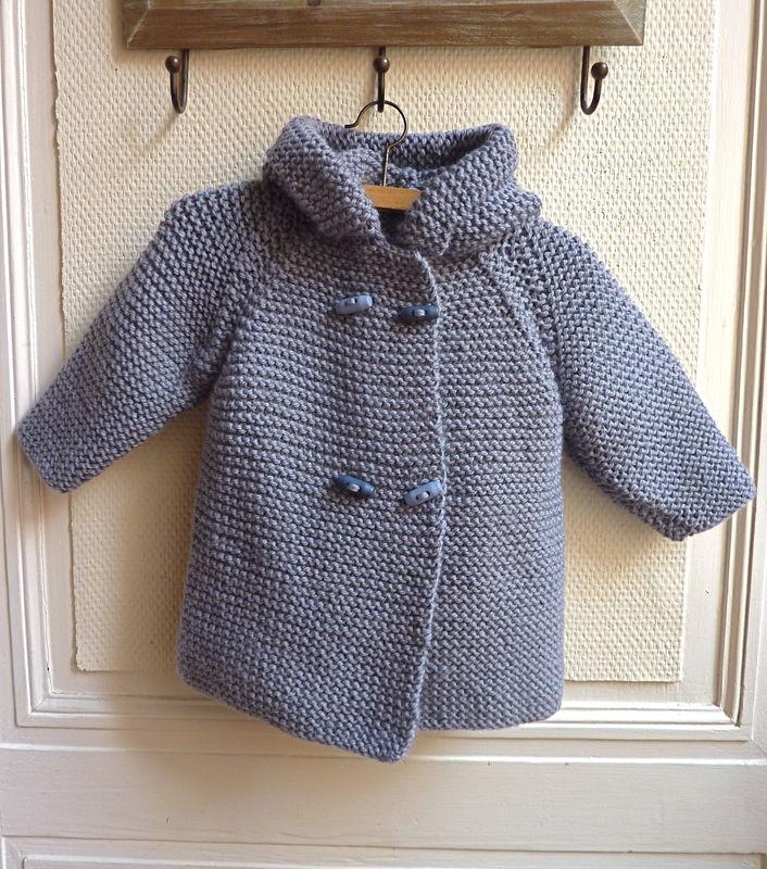 modèle tricot bébé manteau