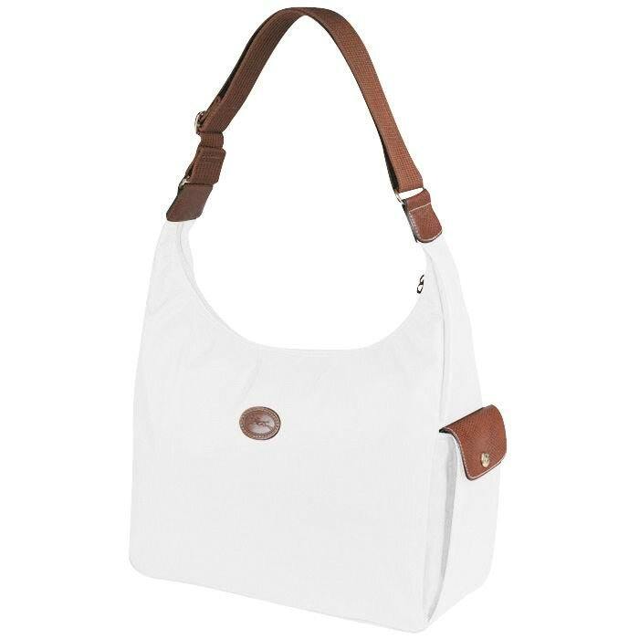 Longchamp le pliage hobo bag white