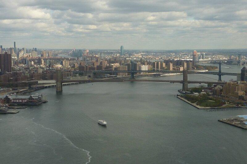 pont de brooklyn vu depuis l'hélico