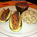 Legumes farcis vegetarien au quinoa gourmand (recette maison)