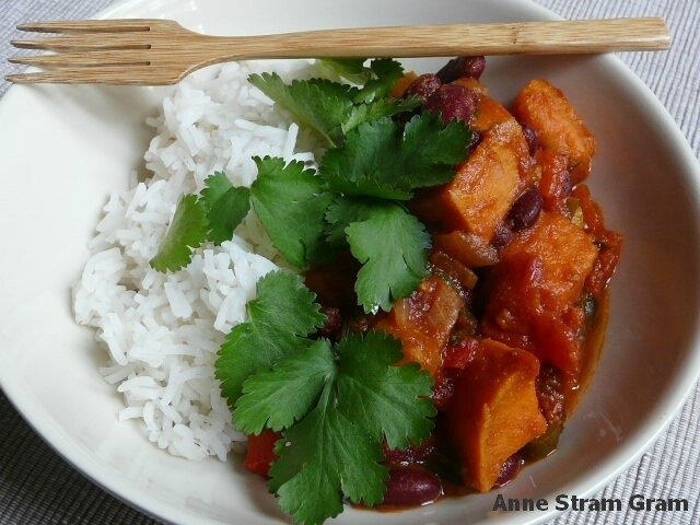 Sweet potatoe chilli