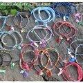 Bracelets cordon 2 ou 3 breloques spi