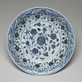 Imperial deep dish, ming dynasty, yongle period, 1403-1425