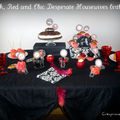 Black and red chic desperate housewives birthday party - mon anniversaire sur le thème des desperate housewives