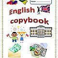 Page titre pour le cahier d'anglais