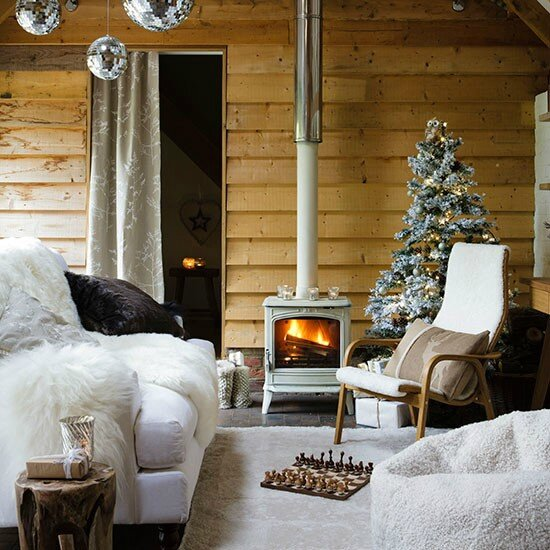 Christmas-living-room-with-stove-and-tree--Country-Homes--Interiors--Housetohome