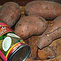 Pure de patate douce au coco