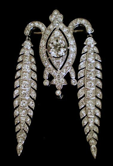 Cartier diamond and platinum brooch