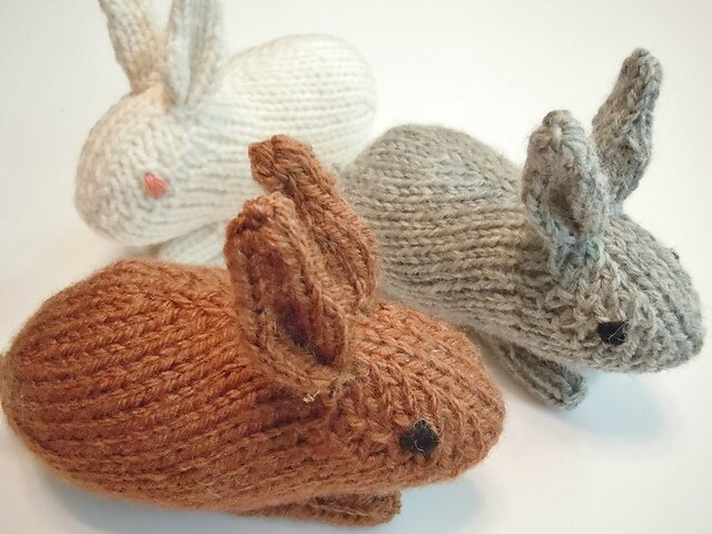 Knitted Bunnies Free Pattern : Tuto tricot : Un bebe lapin