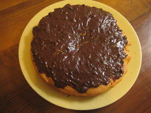 gâteau au yaourt glaçage chocolat