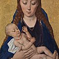 Dieric bouts, virgin and child, after 1454
