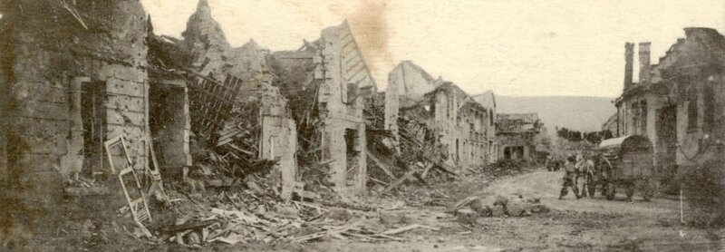 Vailly-sur-Aisne - Rue principale après la guerre 1914-1918