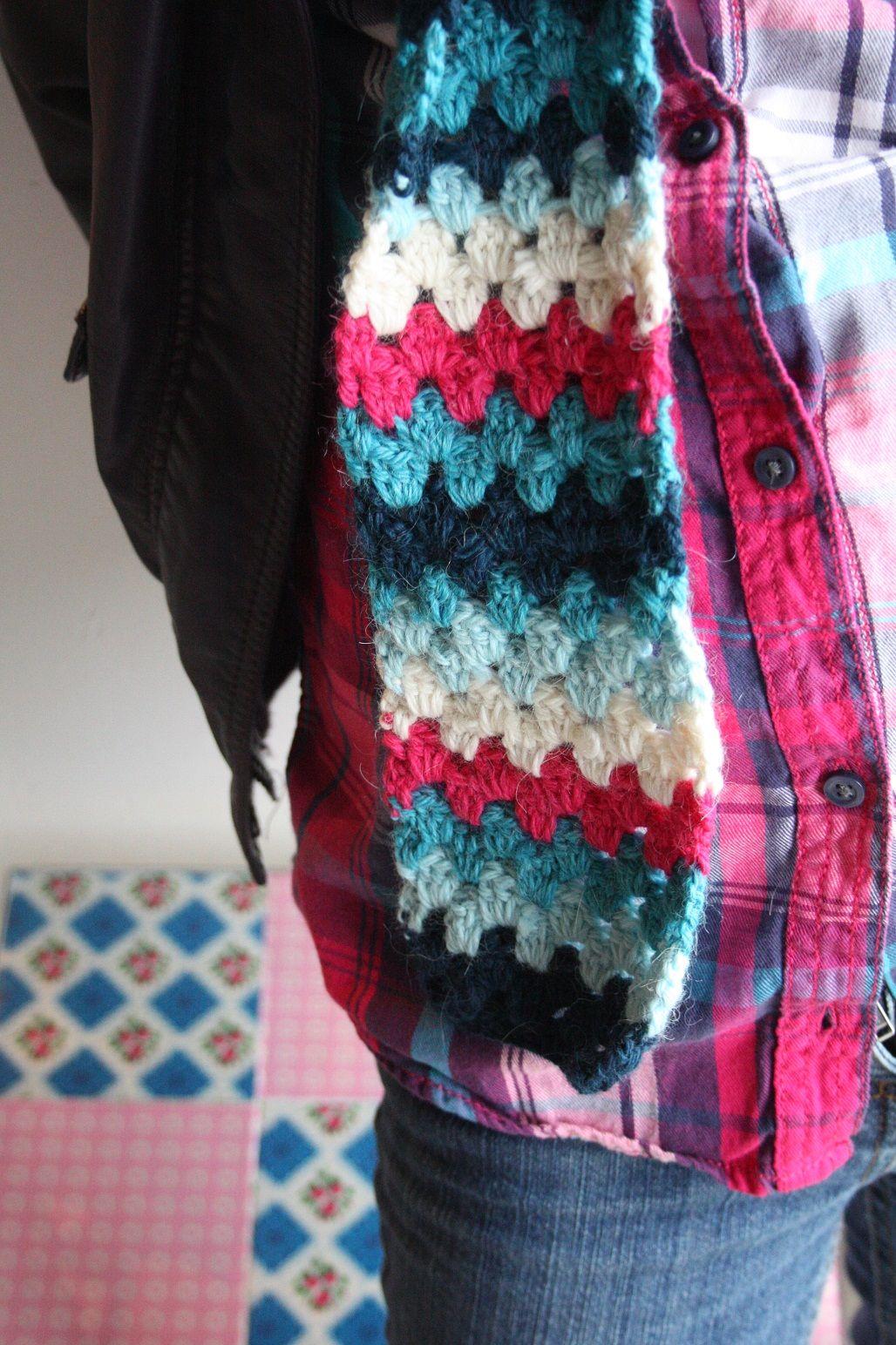 Echarpe au crochet pour petite fille la brocante de margote - Echarpe au crochet facile a faire ...