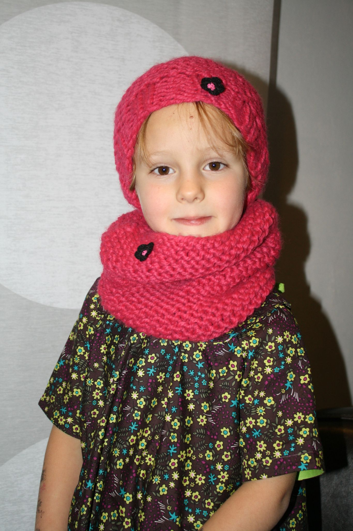 photo tricoter un snood 4 ans