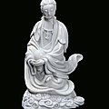 A Blanc de Chine porcelain Guanyin, China, Dehua, end 17th century