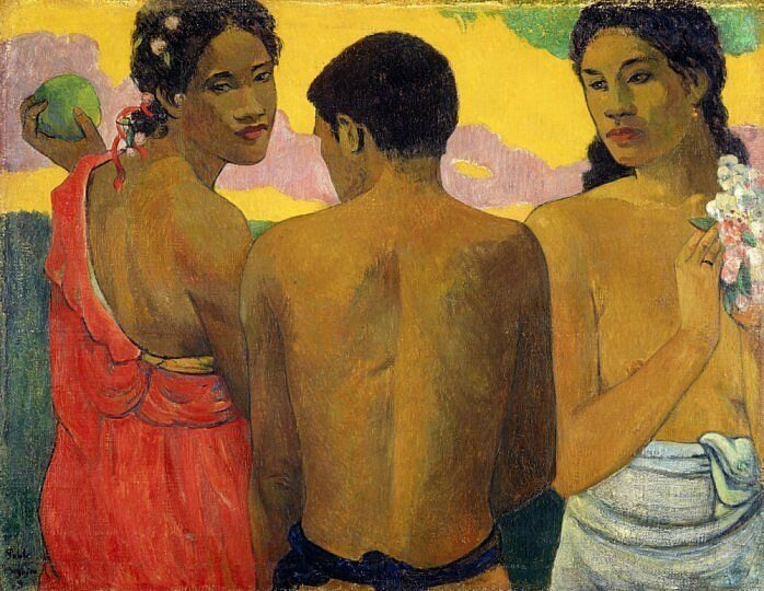 Three Tahitians − Paul Gauguin