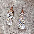 Boucles d'oreilles polymère*collection organique