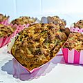 Mini cakes au thon, poireaux et poivrons (sans gluten)