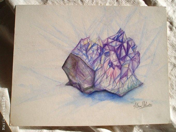 Etude (crayon aquarellable)
