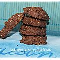 Cookies flocons d'avoine , toblerone