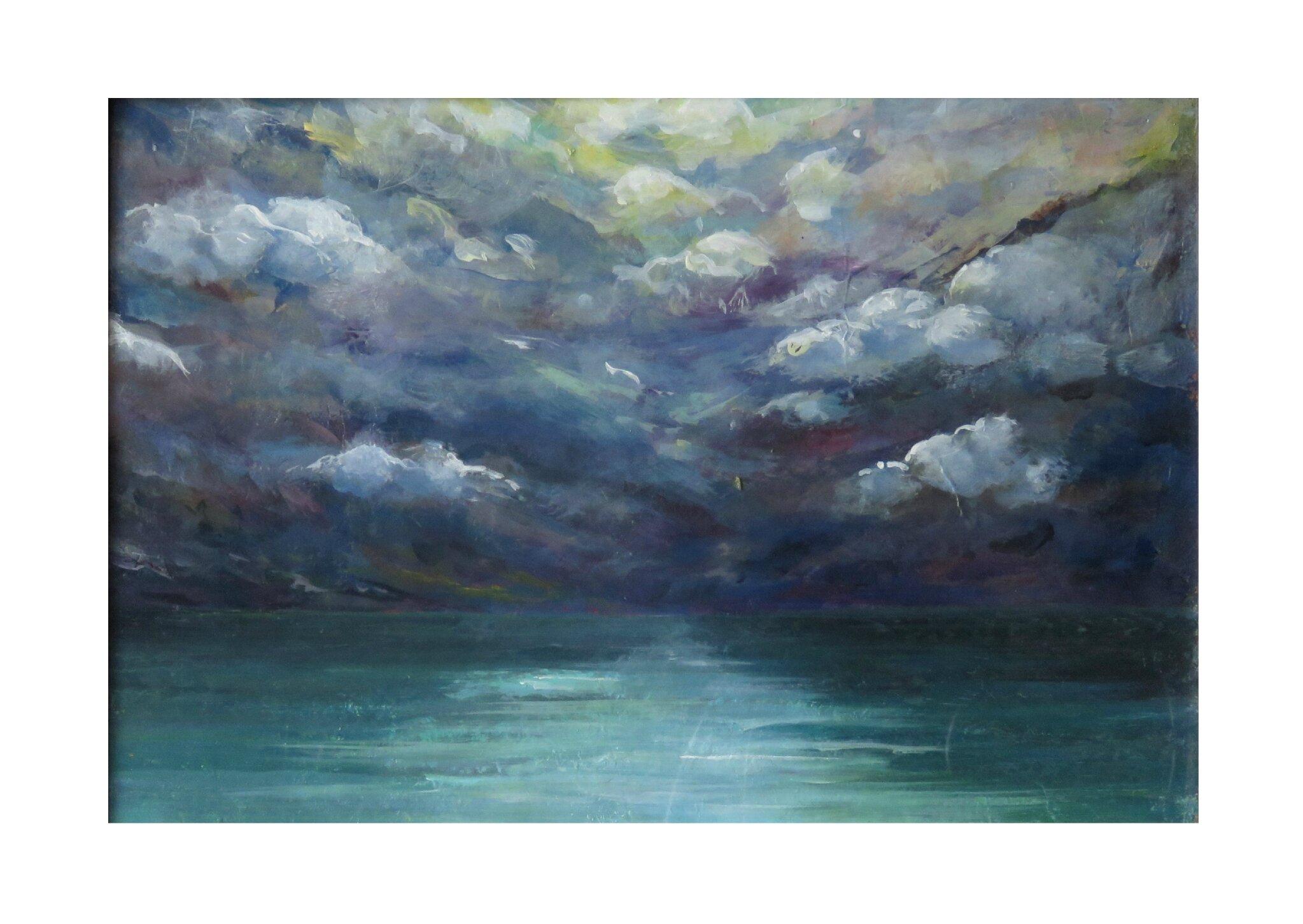peinture figurative mer marine ciel orage eclaircie valerie albertosi
