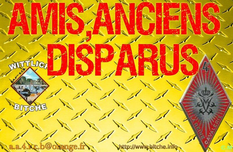 AMIS,ANCIENS DISPARUS