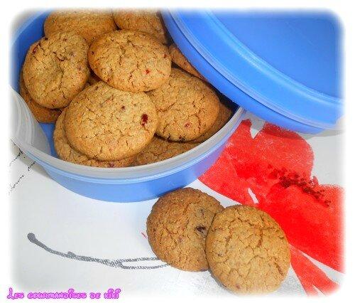 Cookies aux floçons d'avoine et fruist rouges