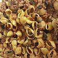 Recette : pâtes aubergines et viande hachée