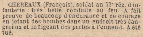 françois chereaux 72e RI 27