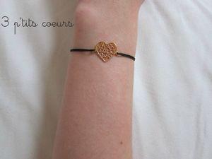 bracelet coeur palqué