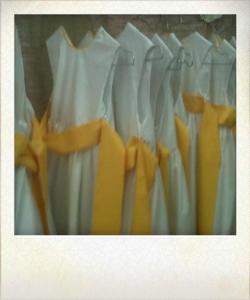 cortege blanc et jaune