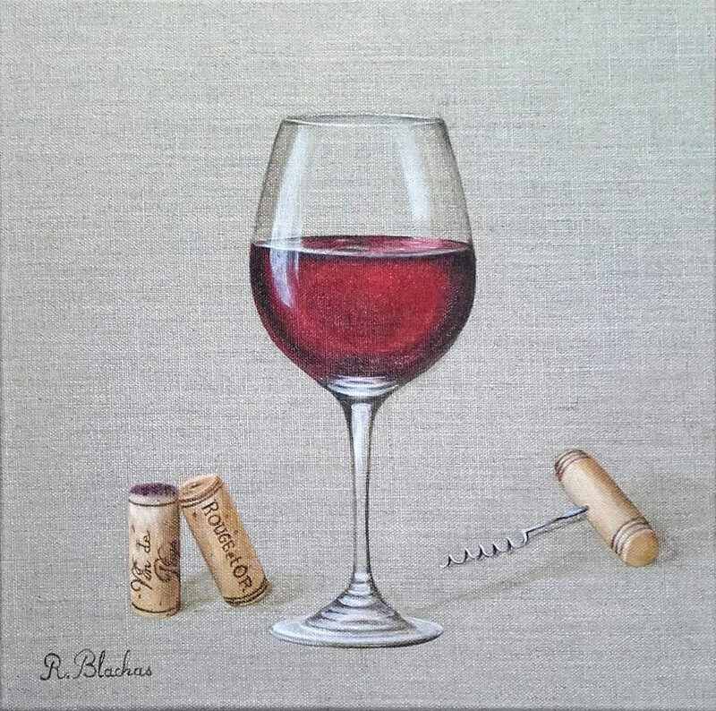 2018 collection glass of wine8 30x30cm
