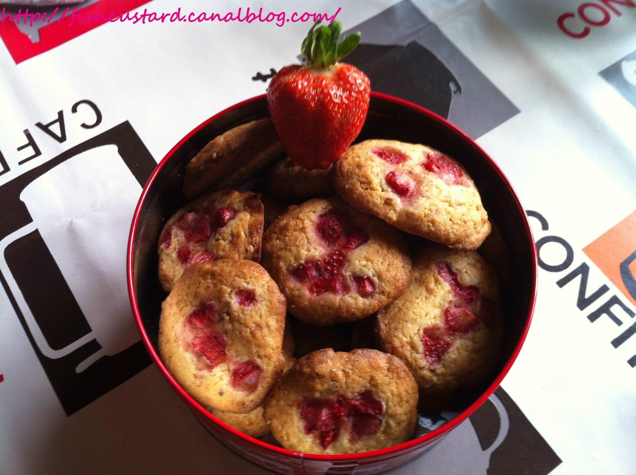 Cookies fraise et praliné