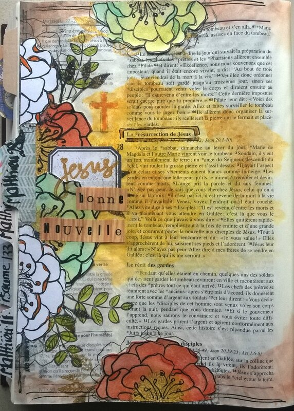Cortaline bible art journaling Matthieu28 (1)