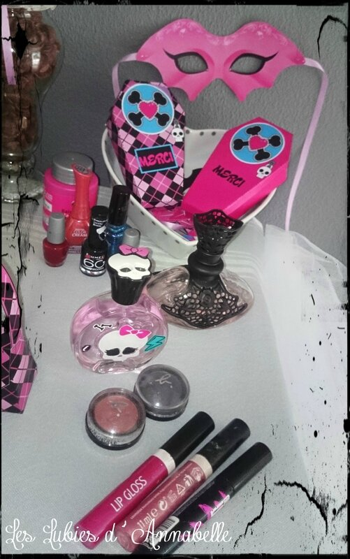 activité maquillage monster high