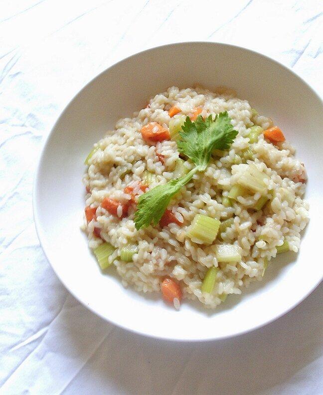 recette risotto au céleri branche et au grana padano