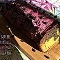 Cake marbré myrtilles/courge