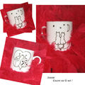 Tasse  caf des amoureux