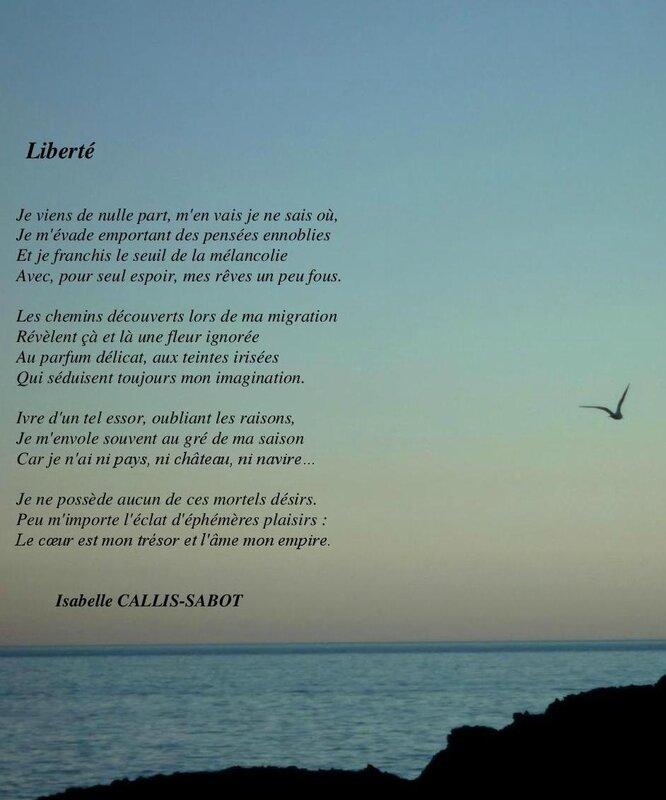 Liberté- Isabelle CALLIS-SABOT