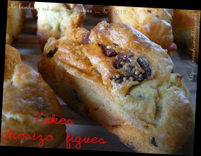 Cakes chorizo figues