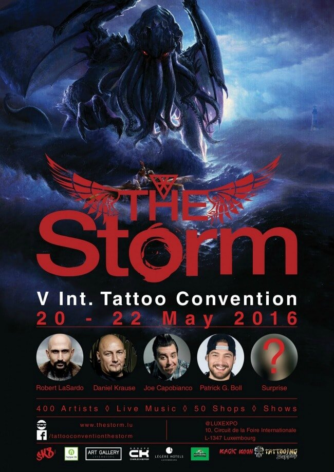 Int. Convention Tattoo The Storm 20 au 22 mai 2016 Luxembourg