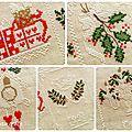 Shabby Advent Calendar 18, 19, 20, 21, 22 Cuore e Batticuore - il punto croce