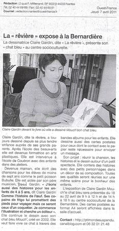 article_Ouest_France_jeudi_7_avril_2011_Claire_Gardin