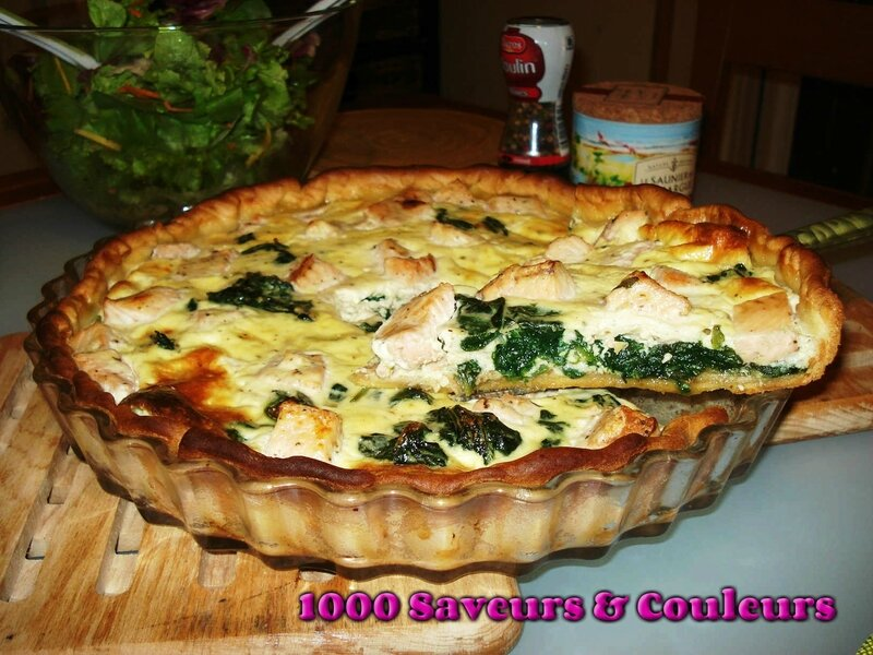 Quiche saumon épinards